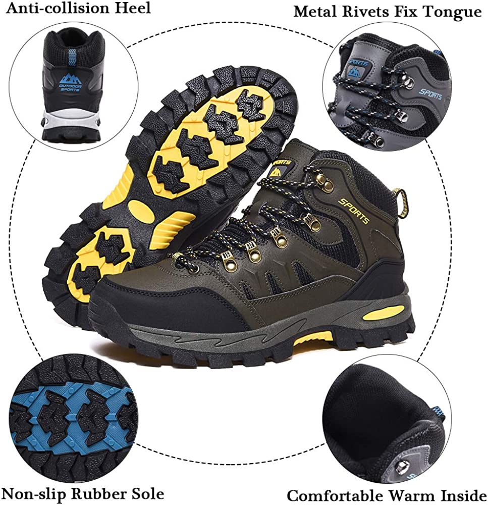 Rokiemen Chaussures de Randonn/ée Hautes Homme Femme Ext/érieure Antid/érapants Bottes de Trekking Escalade Promenades Sneakers