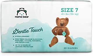 Amazon Brand - Mama Bear Gentle Touch Diapers Size 7, 20 Count
