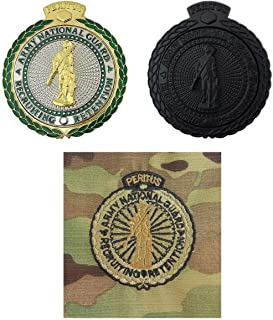 Uniform Accessories Unlimited Inc Army National Guard Recruiting and Retention Badge Bundle