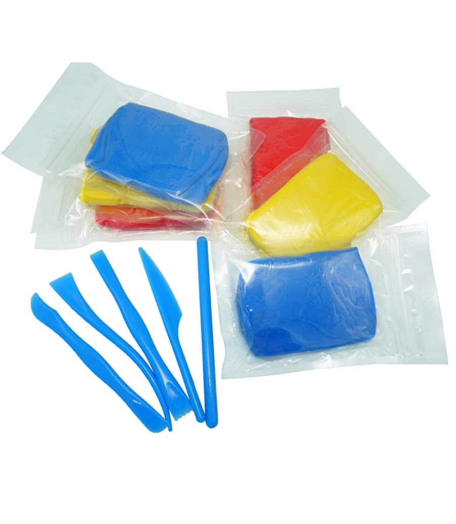 Modoh Lightweight Soft Modeling Clay (6pc), DIY Slime Crafts Clay Dough, Shaping Sculpting Pottery Tool's for Kids Gift (red Yellow Blue)
