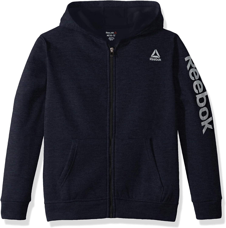 Reebok boys Spun Poly Fleece Zip Front Jacket