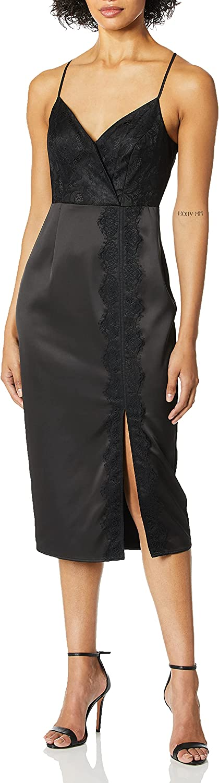 BCBGeneration Women's Lace Overlay Slip Dress