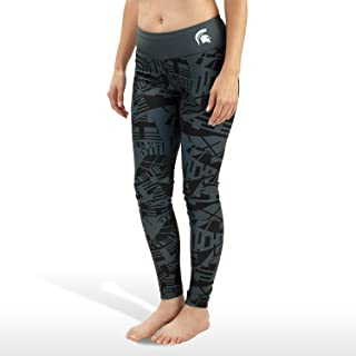 Forever Collectibles NCAA Womens Michigan State Spartant Geometric Print Leggings, Green