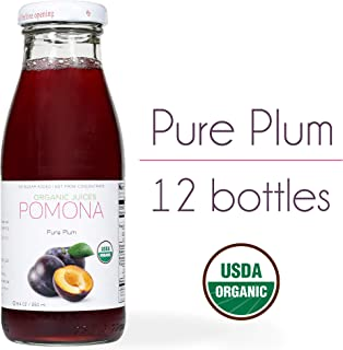 Pomona Organic Juices Pure Juice, Plum, 8.4 Ounce Bottle (Pack of 12)