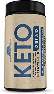 Keto Diet Aid Carb Blocking Weight Loss Capsules for Men and Women - Thermogenic Fat Burning Formula, Stimulant Free, Dige...