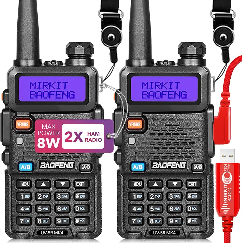 Mirkit Translated 2X Ham Radios Baofeng 5 ☆ popular UV5R MK4 Power Watt Two 8 Max 2021