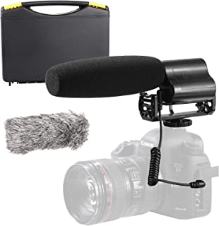 Sevenoak Shotgun Video Microphone Compatible with Canon EOS 80D, 77D, 70D, 60D, 7D, 6D, 5DS, R, 5D, 1D, Digital Rebel SL1, SL2, SL3, T7i, T6s, T6i, T5i, T4i and T3i DSLR Camera