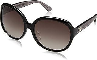 Gucci GG0080SK 002 Montures de lunettes, Noir (Black/Grey), 61 Femme