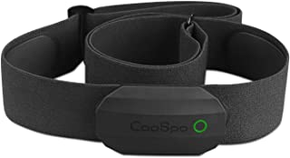CooSpo - Correa de pecho con sensor de frecuencia cardíaca y Bluetooth y ANT+, con sensor HRM IP67, resistente al agua para Runtasic Pro, Wahoo, Elite HRV, Endomondo, Tomtom