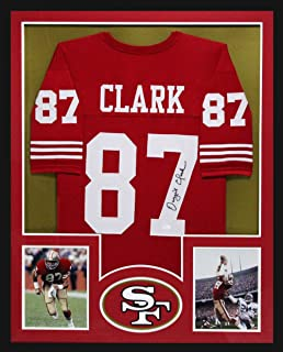 e836294df Dwight Clark Autographed/Signed San Francisco Framed Red Custom Jersey