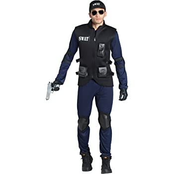 Banyant Toys, S.L. Disfraz DE POLICIA SWAT Adulto: Amazon.es ...