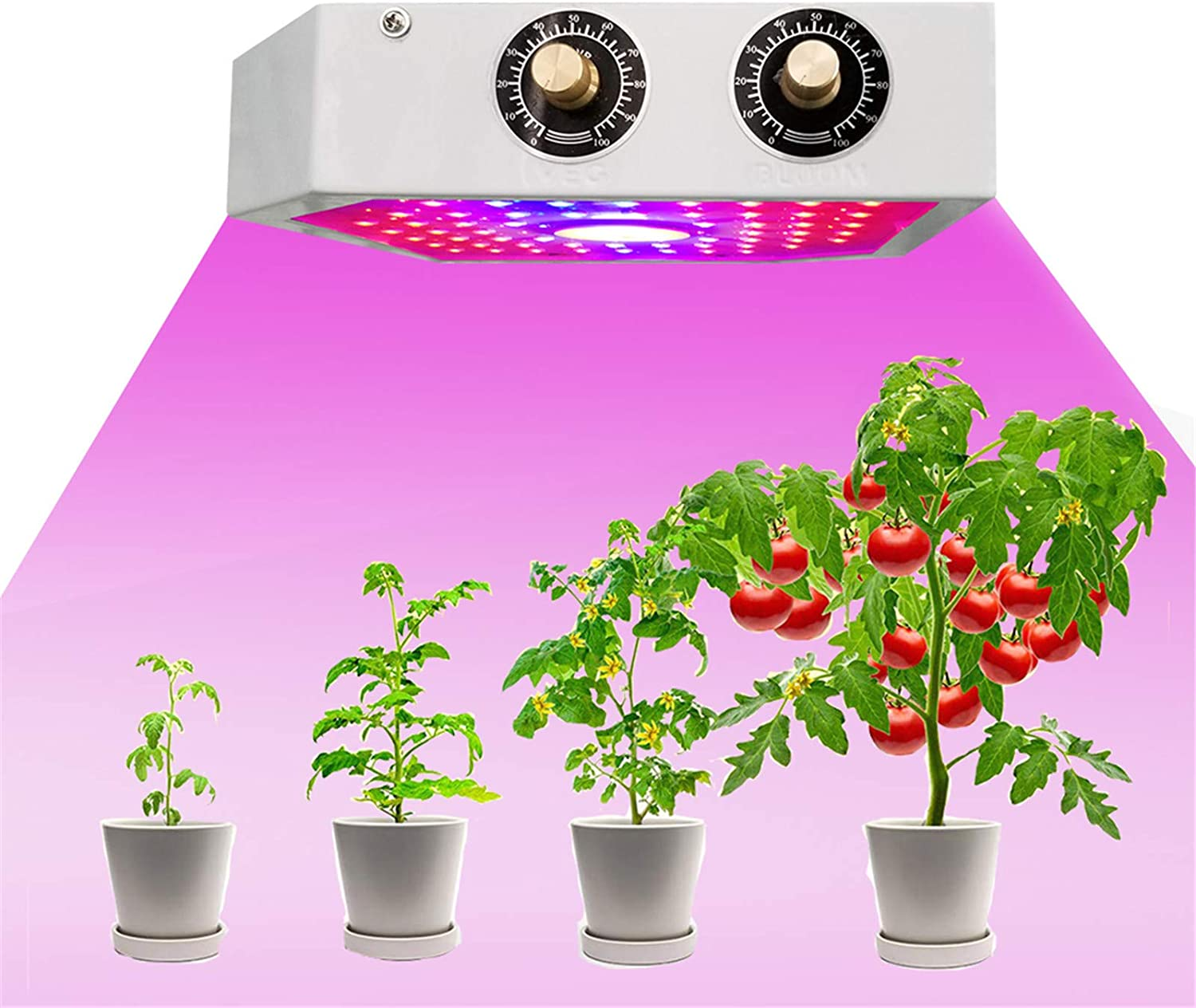 TJHSM LED Grow Lights for Indoor Plants New mail order Spectrum Full Growing Max 45% OFF La