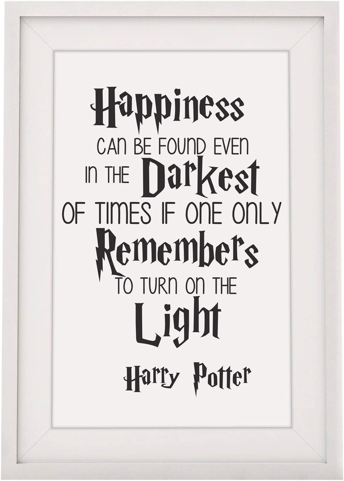 Christmas Harry Potter Light Birthday Unique Gift Happiness Can Be Found
