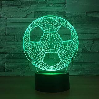 Robot de Football créatif 3D Petite Lampe de Nuit décorative créative LED Nuit éclairage décorations Chambre de bébé Lampe 3D