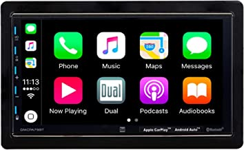 "Dual Electronics 7"" Double Din Mechless Digital Media Receiver with Apple CarPlay Android Auto"