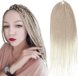 3X Box Braids Crochet Hair(color 27-613#,24 inch,6 bundles,20 strands) Synthetic Box Braids Crochet Hair Soft Light and Breathable