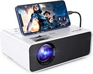 Mini Projector,SMONET 1080P Supported Portable Outdoor Movie Projectors,Home Theater Projector Compatible with HDMI VGA US...