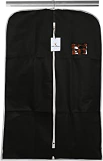 Kuber Industries Non Woven Coat Cover, Black