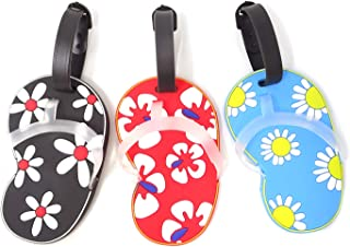 Honbay 3PCS Personalized Flip-Flops Luggage Tags Travel Baggage Tags