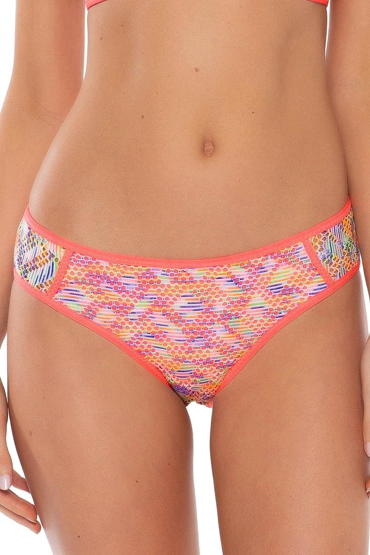 Becca by Rebecca Virtue Women's Reveal Crochet Tab Side Hipster Bikini Bottom