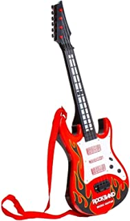 AmazHub Rockband Musical Instrument Guitar Toy for Kids|Cool Guitar for Kids|Multi-Function 4 Strings Musical Instruments Electric Rockband Guitar Toy
