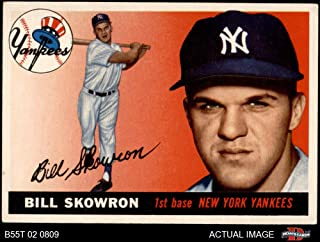 1955 Topps # 22 Bill Skowron New York Yankees (Baseball Card) Dean's Cards 4 - VG/EX Yankees