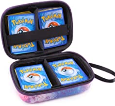 Alohallo Carrying Case for Pokemon Trading Cards,Holds up to 400 Pokemon Trading Cards, Durable EVA Hard Case with Hand Strap - Universe