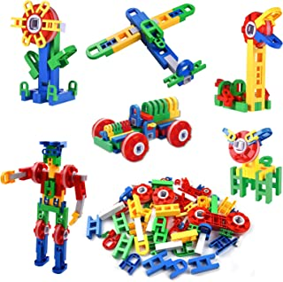 88-Piece Building Block Set DIY Construction Engineering Toy Early Education Intelligence Development Toy for Age 3+ Boys...