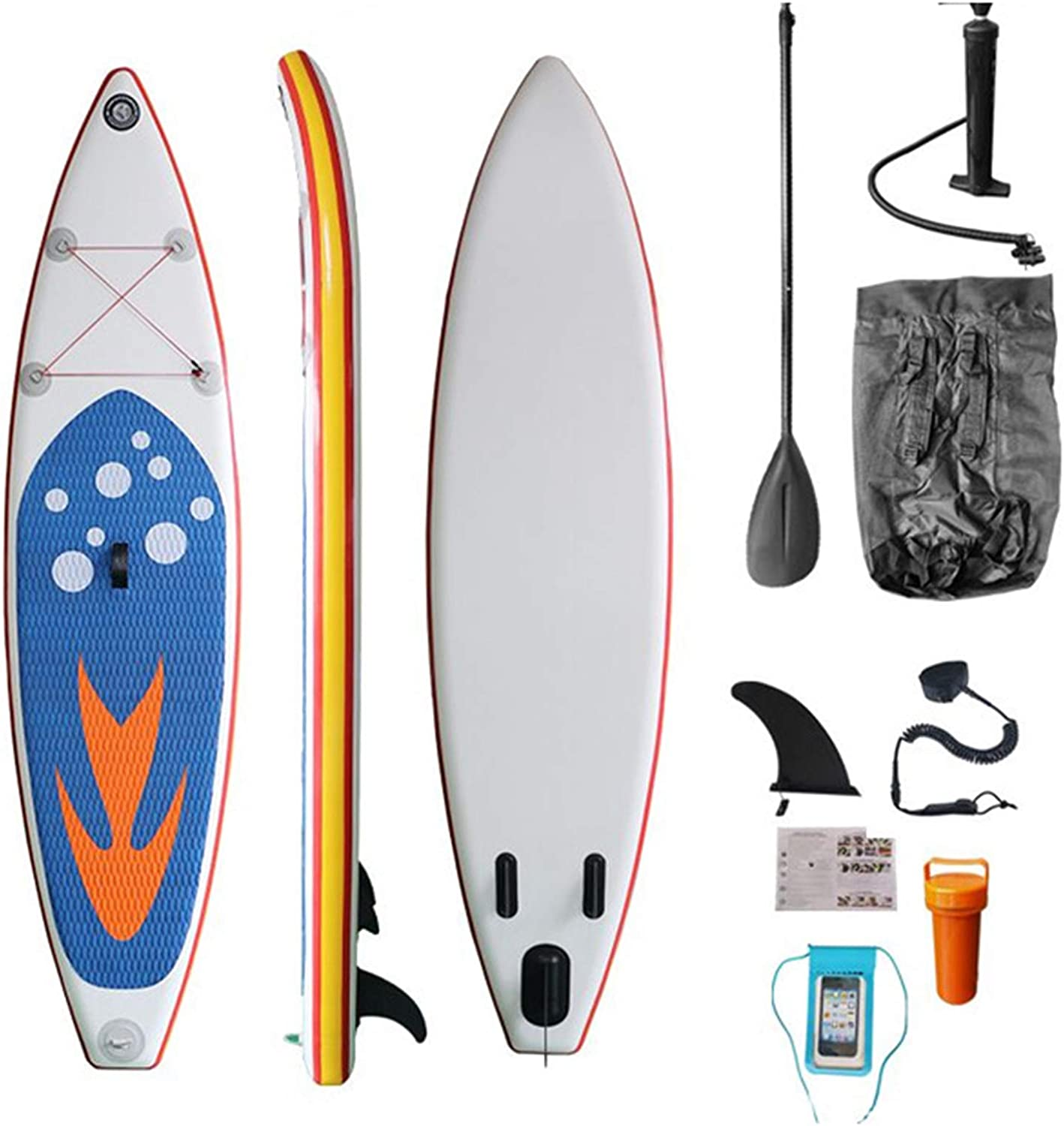 Inflatable Stand Up Paddle Board 305 Deck Non-Slip Fees free cm unisex with Isup