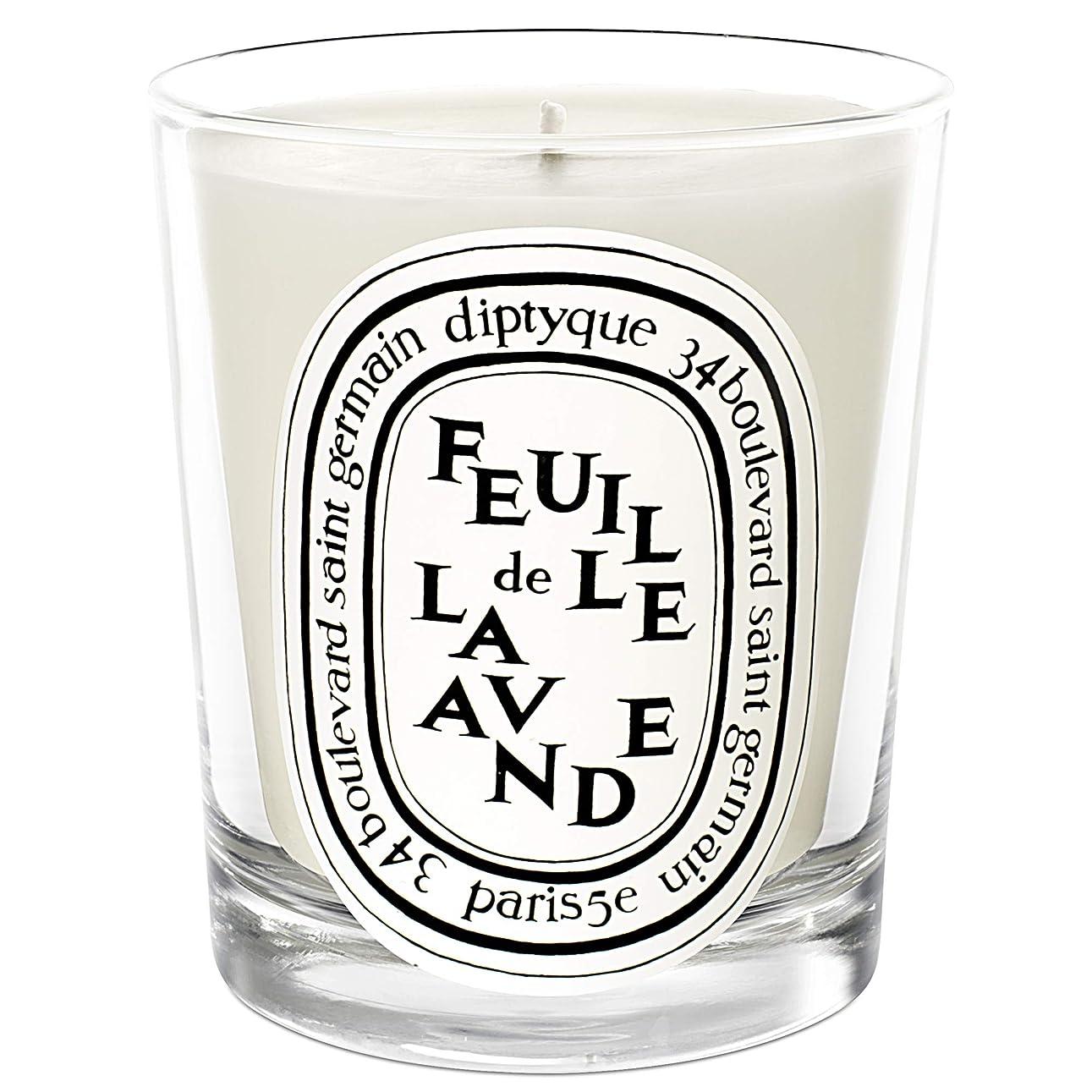 旧正月冷ややかなドラッグ[Diptyque] DiptyqueのFeuilleデラバンデ香りのキャンドル190グラム - Diptyque Feuille de Lavande Scented Candle 190g [並行輸入品]