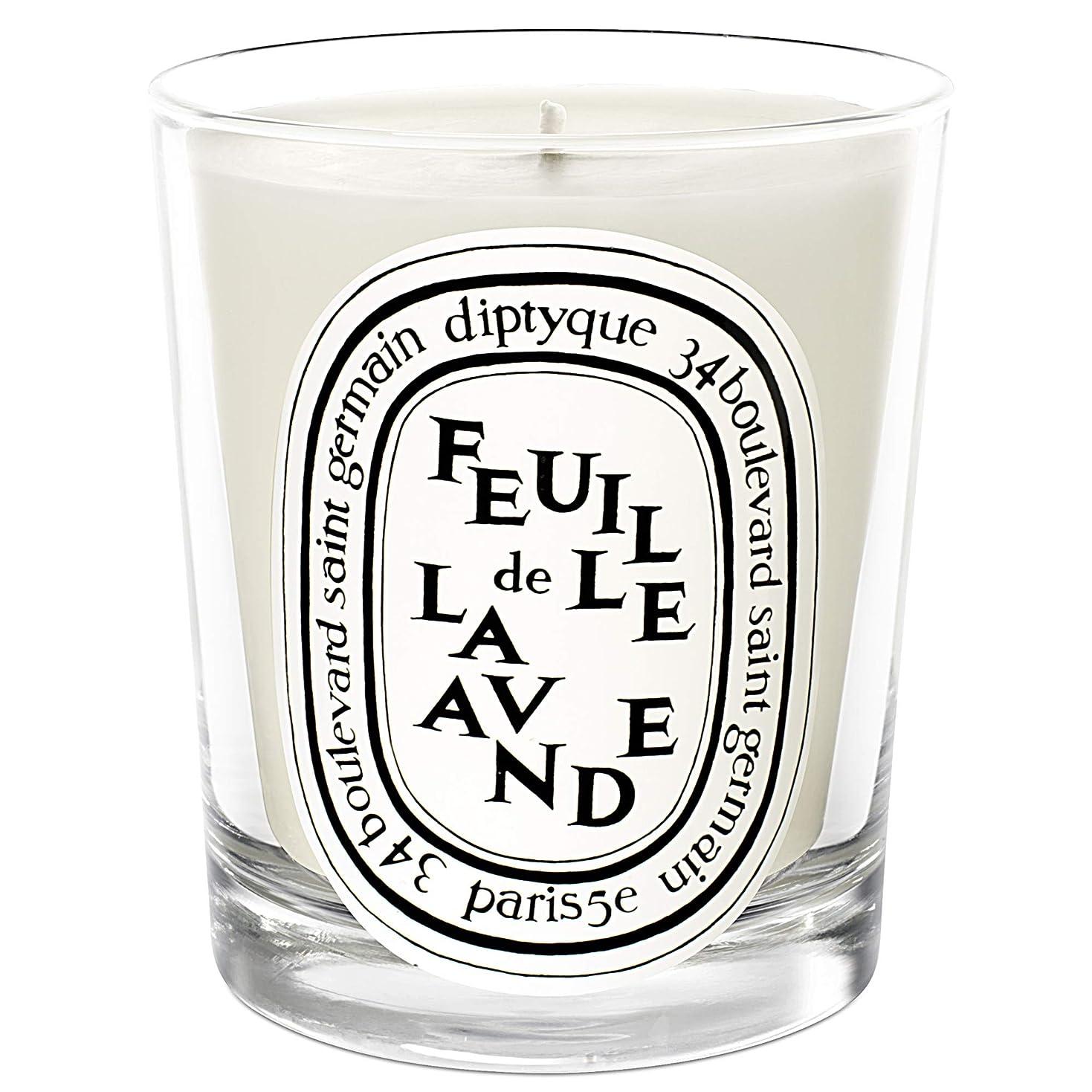 神話男らしさ大きい[Diptyque] DiptyqueのFeuilleデラバンデ香りのキャンドル190グラム - Diptyque Feuille de Lavande Scented Candle 190g [並行輸入品]