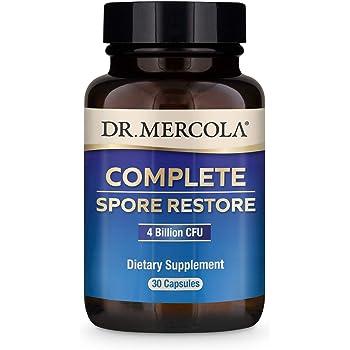 Dr. Mercola, Complete Spore Restore, (4 Billion CFU), 30 Servings (30 Capsules), Provides Supports Immune Function, Non GMO, Soy Free, Gluten Free