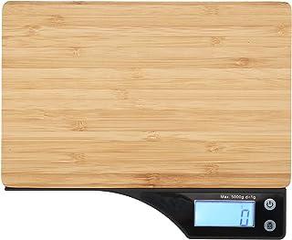 EXID Báscula electrónica TY-005 Báscula Digital doméstica Profesional Báscula electrónica de bambú Herramienta de pesaje 1g-5kg