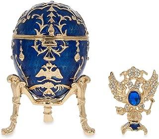 BestPysanky Jeweled Owl Trinket Box Figurine 3.4 Inches