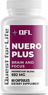 QFL Neuro Plus Memory and Focus Formula - Boost Focus, Improve Brain Health, Energy & Mood Booster for Men ...
