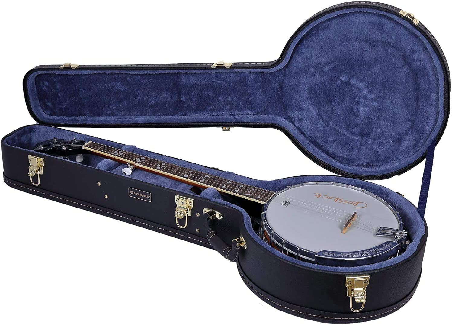 Crossrock CRW600BJBK Wooden case for 5 Resonator 高品質新品 売買 Banjo C String