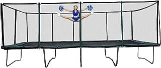 Happy Trampoline - Galactic Xtreme Gymnastic Rectangle Trampoline with Net Enclosure - عملکرد بالا