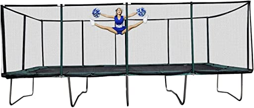 Happy Trampoline - Galactic Xtreme Gymnastic Rectangle Trampoline with Net Enclosure - High Performance & Safety Features ...