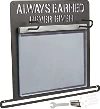 Juvale Athletic Medal Display Hanger - Iron Marathon Medal, Memorabilia, Race Bib Holder and Photo Display Hanger for Runners, Gymnasts, Athletes, Sports Fans - 11.93 x 13.03 x 0.1 inches