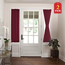 H.VERSAILTEX Blackout Curtains French Door Panels Thermal Insulated with Bonus Tie-Backs Patio Door/Glass Door Curtain Panels (2 Panels, 25