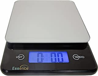 ESSENCE Digital Kitchen and Food Scale, Silver and Blue – No-Hassle Replacement Guarantee (Silver)