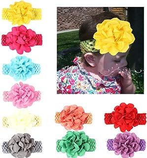 86a350540 CHSEEA 9PCS Niños Sombrero Beanie Gorras Elásticas Caliente de Punto Arco  Venda De Pelo Bebe Vinchas