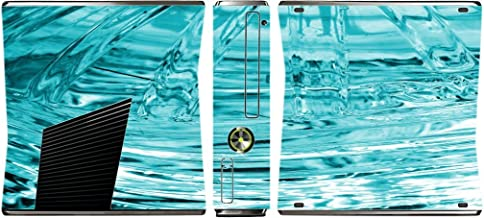 Ice Frozen Glass Freeze Vinyl Decal Sticker Skin by Moonlight Printing for Xbox 360 Slim (2010)