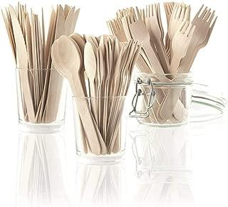 AURSTORE BASA Couverts jetables en Bambou et Compostable /Écologique 15,5cm ,100/% Naturel Biod/égradable 12PCS Couteau