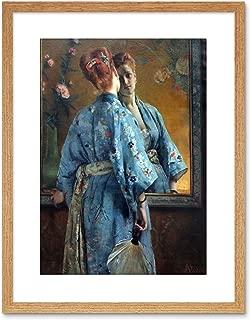 9x7 '' Stevens LA Parisienne JAPONAISE Old Painting Framed Art Print F97X165