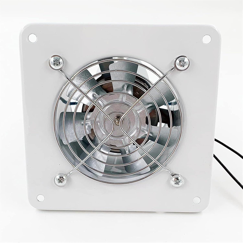 zlw-shop Inicio Ventilación de Tubo silencioso Ventilador con Rejilla y comprobación Válvula 4 Pulgadas Cuadrado Cuadrado Agua Aficionado Baño Extractor Cocina Aseo Aire Air Ventilación, Blanco