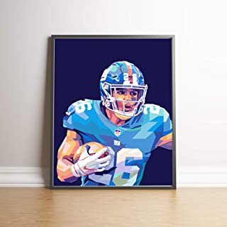 Saquon Barkley Limited Edition Poster Wall Art Wall Merchandise (Additional Sizes) (20x24)