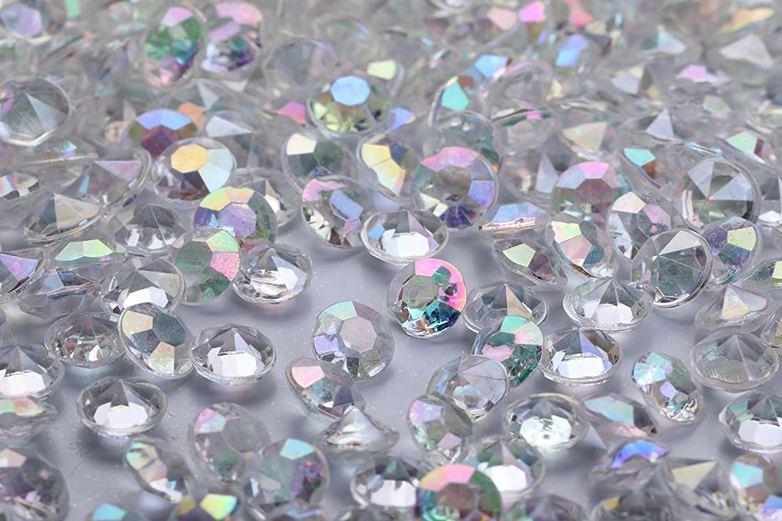 2000 pcs/Pack Wedding Table Scatter Confetti Crystals Acrylic Diamonds 8 mm Rhinestones for Wedding, Bridal Shower, Vase Beads Decorations (8mm, AB Clear)