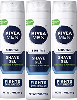NIVEA Men Sensitive Shaving Gel – Protects Sensitive Skin From Shave Irritation..