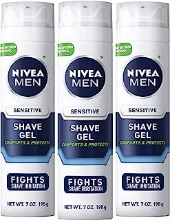 NIVEA Men Sensitive Shaving Gel, 7 Ounce (Pack of 3)